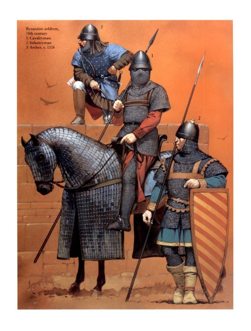 Византийские солдаты xiv в 1
