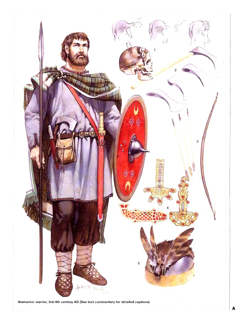 Germanic Warriors Алеманнский воин (iii-iv в.н.э