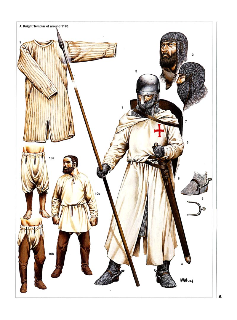 Illustrations of knights templar for The knights templat